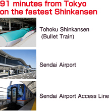 91 minutes from Tokyo on the fastest Shinkansen
